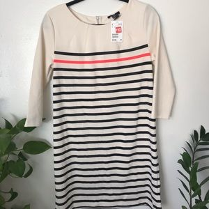 H&M black and white stripped A line dress